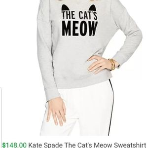 Kate Spade The Cats Meow Sweatshirt MSRP $148